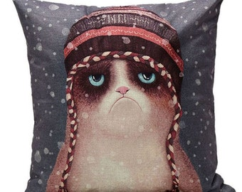 Grumpy Cat - Pillow Cover