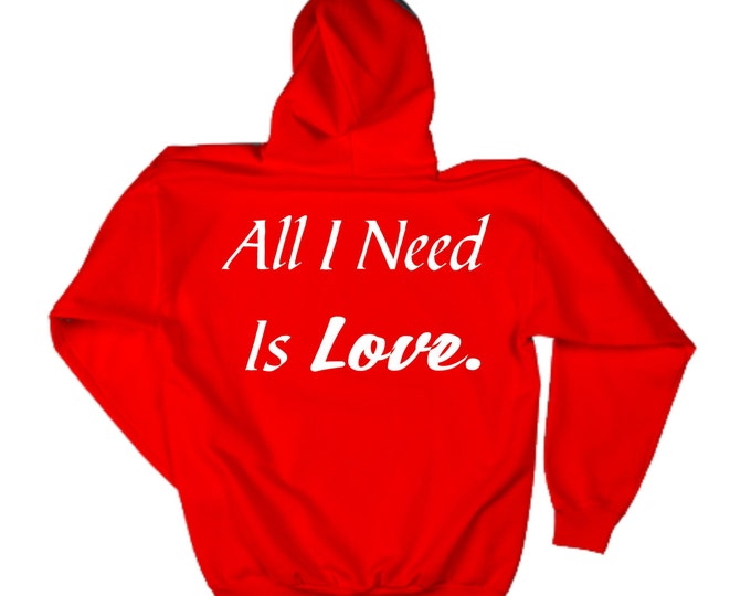 Red Valentines Day Shirts. All I need Is LOVE. Oversized Fleece pullover Valentines Day Hoodie. Unisex Fleece Pullover Valentines Hoodie.