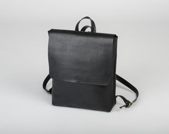 Black Leather Backpack Women, Leather Rucksack