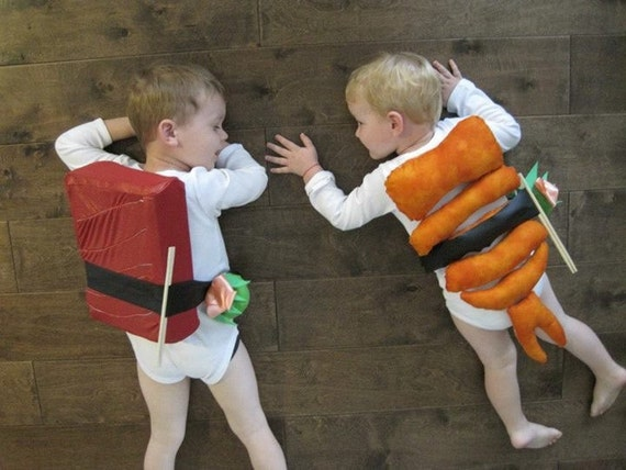 Set of Sushi funny Halloween Costumes for 2 kids! 2T-5T