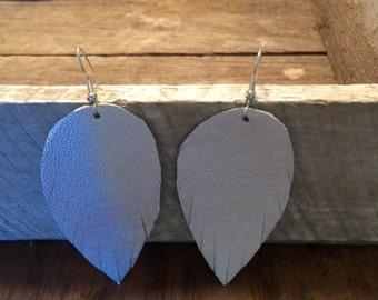 Psalm 91 Faux Leather Feather Earrings Sm, Drop Earrings