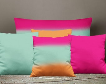 Boho Chic Solids Throw Pillows , Square , Rectangle , Many sizes