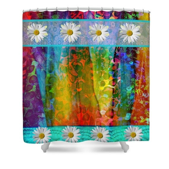 Shower Curtain Gypsy Rags Bohemian Hippie