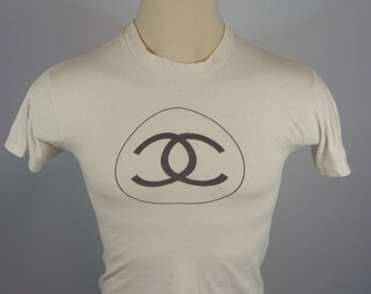Vintage Distressed Stedman White 80s T Shirt Small
