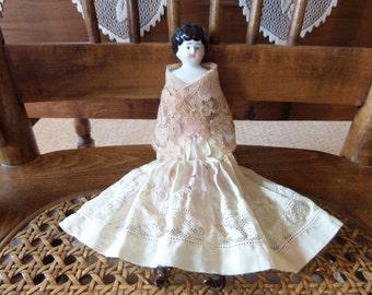 "Antique China Head Doll Germany 8 1/2"""