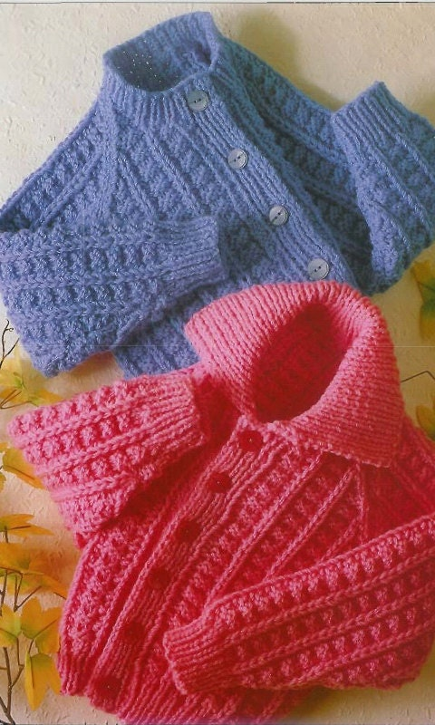 Childrens Knitting Patterns To Download : Childrens Jacket Knitting Pattern PDF instant download.