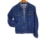 Vintage Jean Jacket - Small Mens - 70s Trucker Jacket - Denim Jacket - GWG Jean Jacket Small - Mens Vintage Clothing - Canada - Western wear