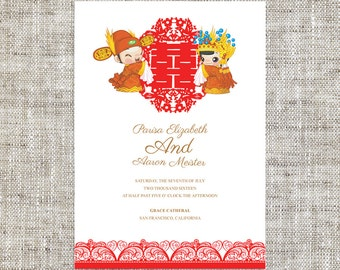 Diy printable editable chinese wedding invitation rsvp by for Chinese wedding invitations etsy