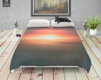 when the day breaks duvet cover beach summer bedding ultra soft