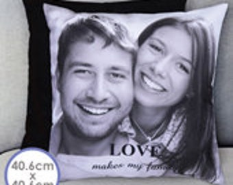 Pillow cover on both sides personalize 40,6 x 40,6 cm