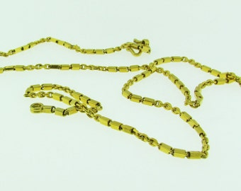 Vintage 24 K solid gold chain necklace