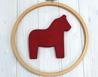 Felt Dala Horse, 8 pieces - Wool Blend Felt - Die Cut Shapes