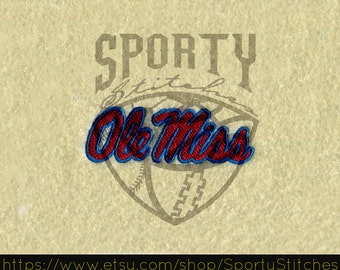 Football Machine Embroidery Designs (ole miss) 4x4 - Instant Download
