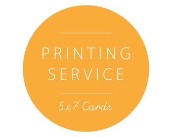 5x7 Card Printing with Envelopes - SET OF 10