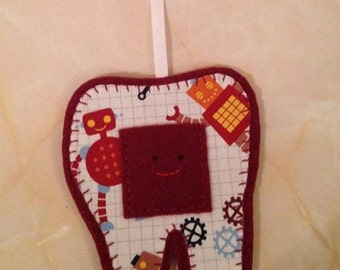 Tooth Fairy Hanger, robot tooth fairy hanger,