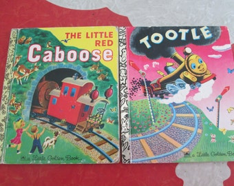 Two Little Golden Books About Trains