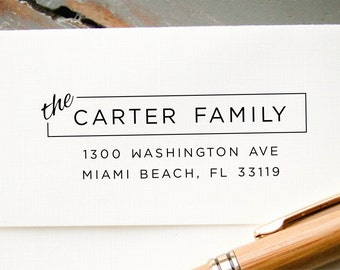 Custom Return Address Stamp, Personalized Rubber Stamp, Pre-Inked Return Address Stamp, Housewarming Gift, Wedding Envelope Addressing