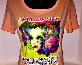 "African American T-Shirt ""Work of Art"" by SoulSeed Tees"