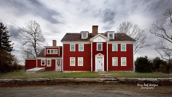 Main House Waters Farm, Sutton, MA Original Photograph