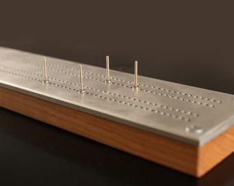 Cribbage Board Aviator Inspired With Rivet Pegs And Hidden Storage | Perfect Pilot Gift