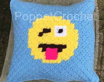 Emoji cushion crochet