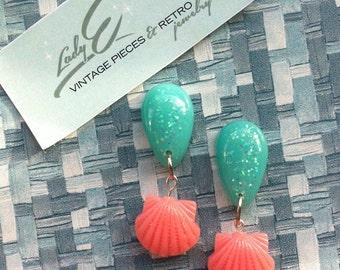 Novelty mermaid earrings