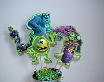 Monsters Inc Centerpiece Picks Set of 5 (DOUBLE-SIDED)