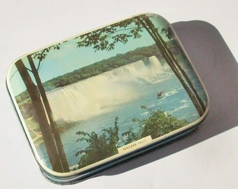 Vintage Candy Tin / Riley Brothers Toffee / Halifax England / American Natural Wonder