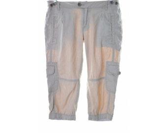 Calvin Klein Womens Short W29 Beige Linen Cotton Elastane