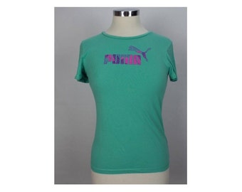 Puma Womens T-Shirt 32/34 XS Blue
