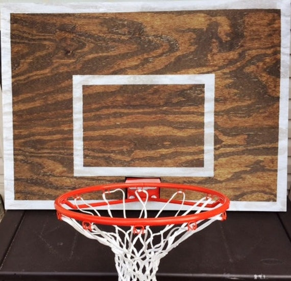 Vintage designed basketball backboard with rim by for Vintage basketball wall art