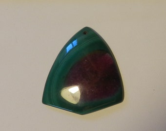 Beautiful green purple stripes druzy geode agate freeform  bead