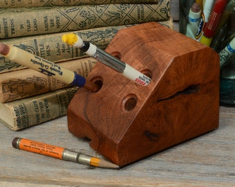 MESQUITE PENCIL HOLDER, One of a Kind Pen/Pencil Holder