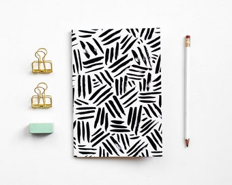 A5 Patterned Notebook - Criss Cross