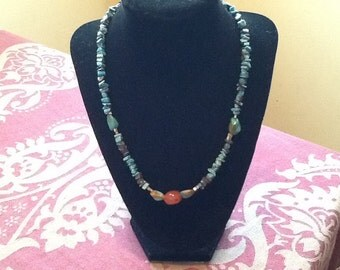 Turquoise & Carnelian Necklace
