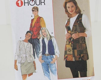 Vest Collection Sewing Pattern, Uncut Sewing Pattern, Simplicity 7320, Size L-XL