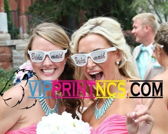 Wedding Customized Sunglasses for the Bridal party bachelorette or bachelor party to be on their special day 20 pack