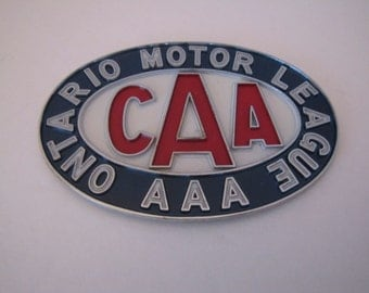 Vintage C.A.A Licence Plate Topper
