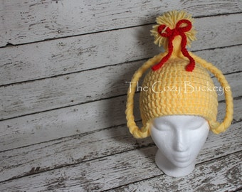Cindy Lou Who Hat The Grinch Dr. Suess Character Hat Sizes Newborn to Adult