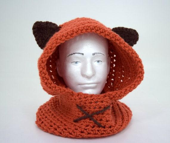 Ewok Hat: Ewok Hood And Infinity Scarf / Cowl Star By TinakinsCreations