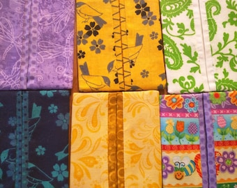 Bright and Cheerful Pocket Tissue Holders- Set of 6