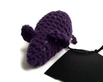 Purple Catnip Mouse Toy, Handmade Crochet Cat Toy