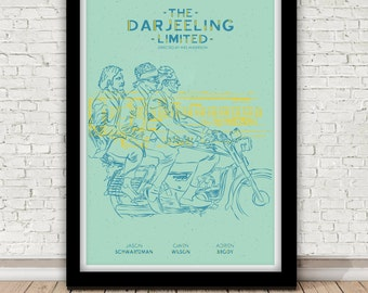 The Darjeeling Limited poster - by Wes Anderson - 2007