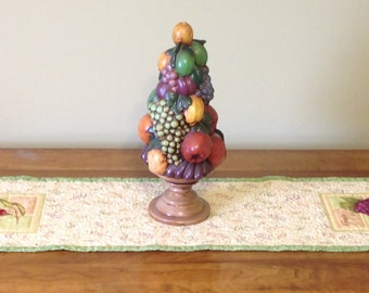 Quilted Fruit Table Runner