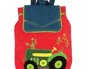Toddler Tractor Backpack, Signature Collection Stephen Joseph Children's Backpack.
