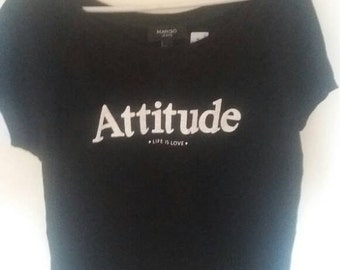 """Women top t-Shirt with title """"attitude"""""""