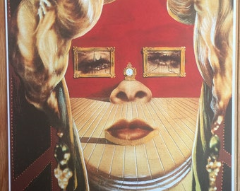 Salvadore Dali Mae West print poster wall art 11 x 14