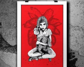 Mathilda - 4 Colors Handpulled Silkscreen Poster