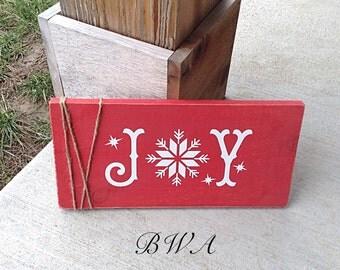 Christmas sign joy, christmas joy sign, rustic christmas decor, christmas signs, joy sign, country christmas decor,