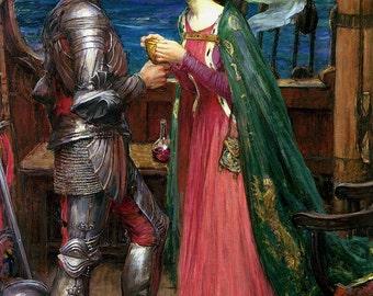 John William Waterhouse: Tristan and Isolde. Fine Art Print/Poster (00835)